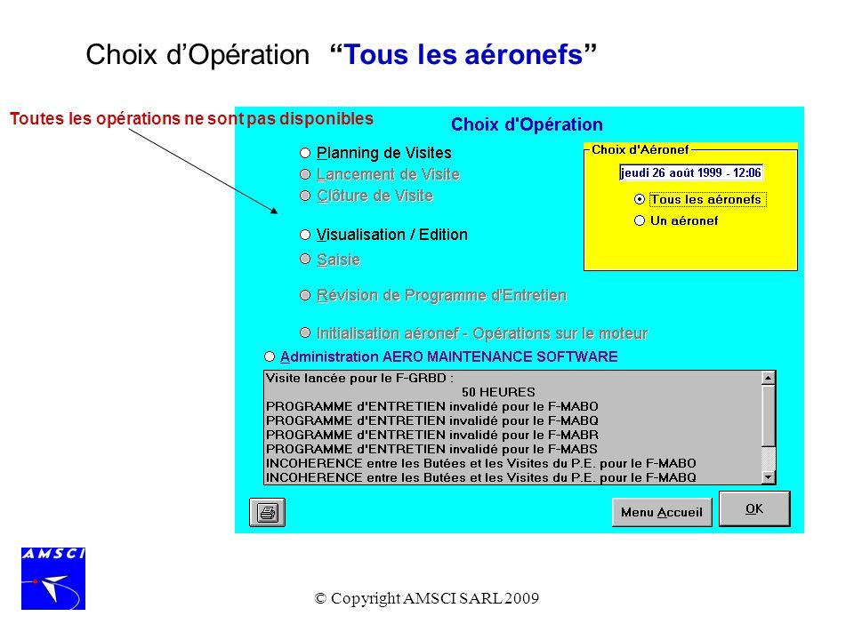 Choix d'Opération Tous les aéronefs