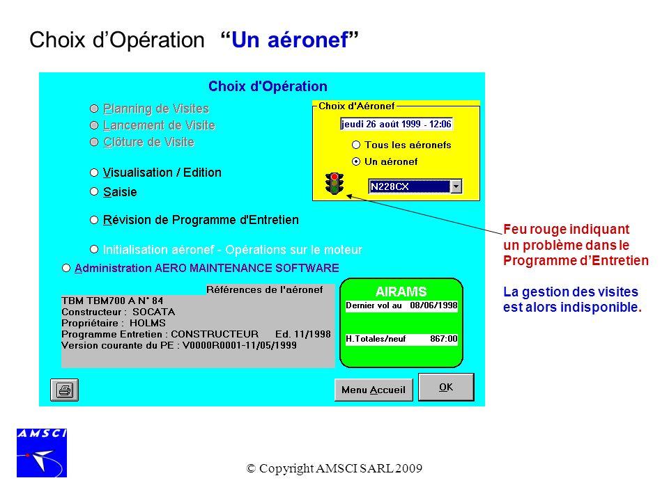 Choix d'Opération Un aéronef