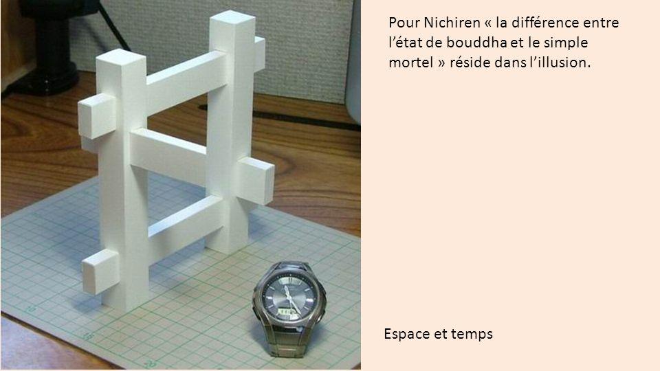 Pour Nichiren « la différence entre l'état de bouddha et le simple mortel » réside dans l'illusion.