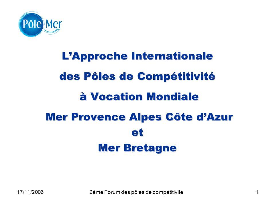 L'Approche Internationale des Pôles de Compétitivité