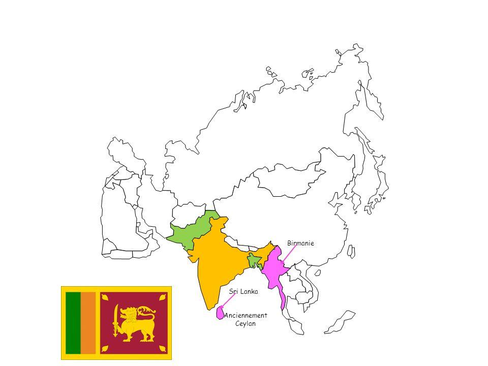 Birmanie Sri Lanka Anciennement Ceylan