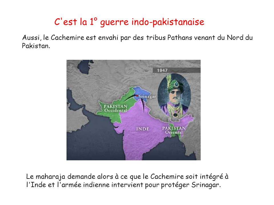 C est la 1° guerre indo-pakistanaise