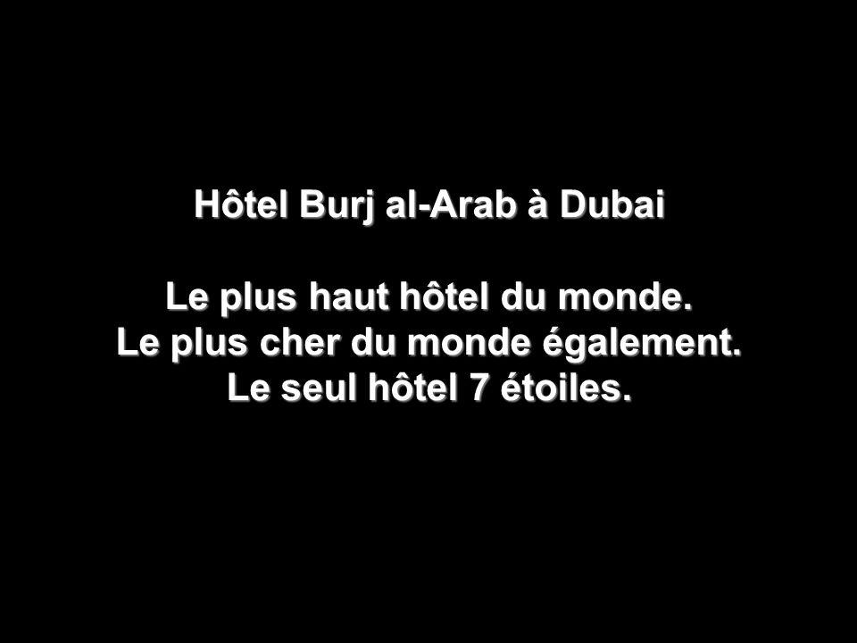 Hôtel Burj al-Arab à Dubai Le plus haut hôtel du monde