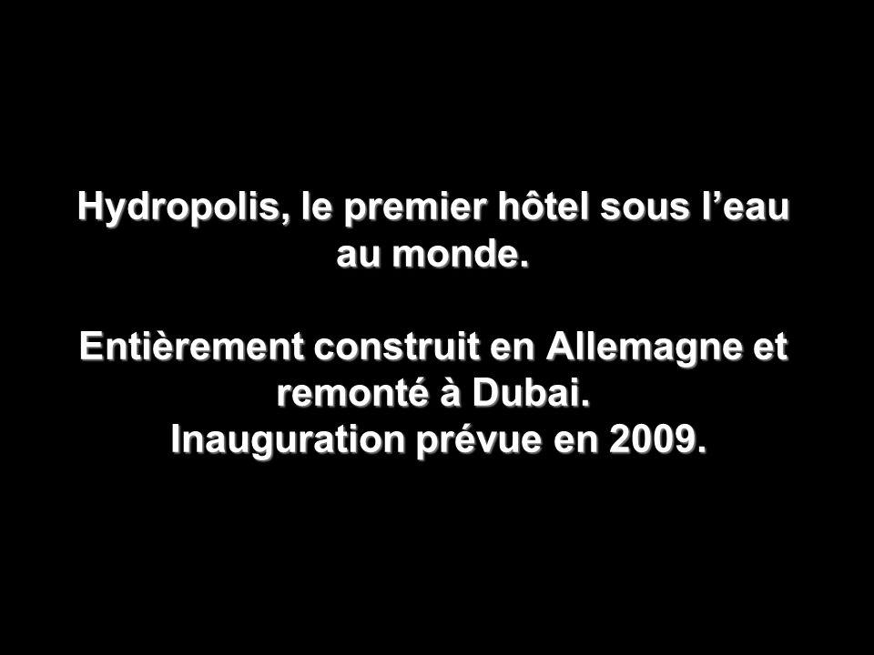 Hydropolis, le premier hôtel sous l'eau au monde