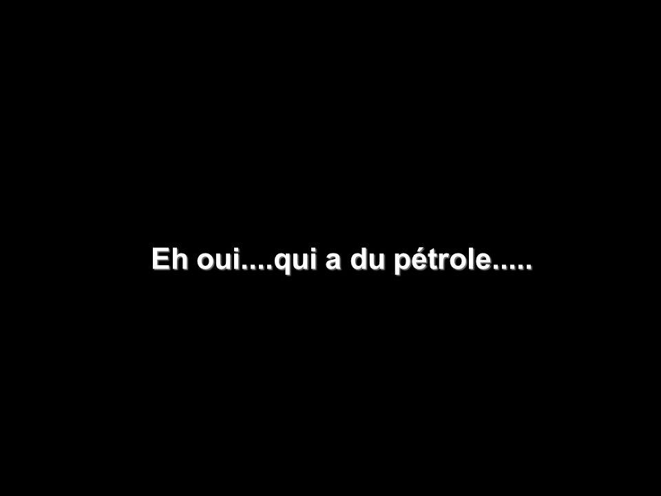 Eh oui....qui a du pétrole.....