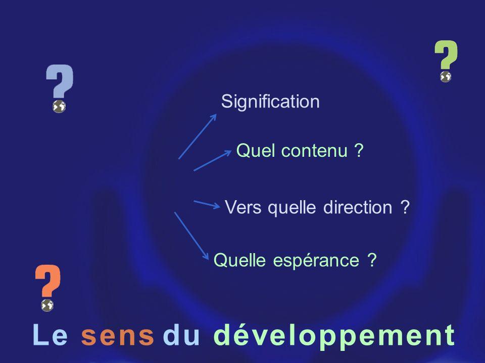 Le du développement sens Signification Quel contenu