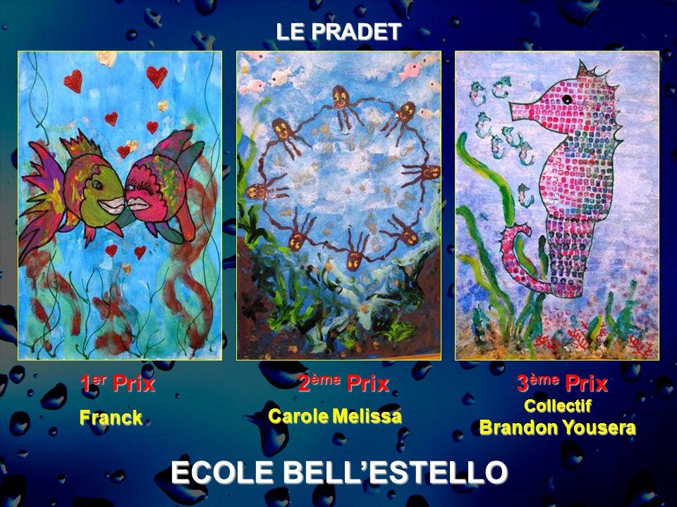 ECOLE BELL'ESTELLO LE PRADET 1er Prix 2ème Prix 3ème Prix Franck