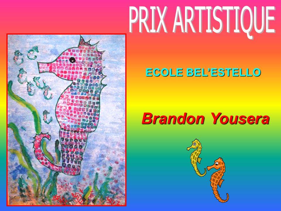PRIX ARTISTIQUE ECOLE BEL'ESTELLO Brandon Yousera