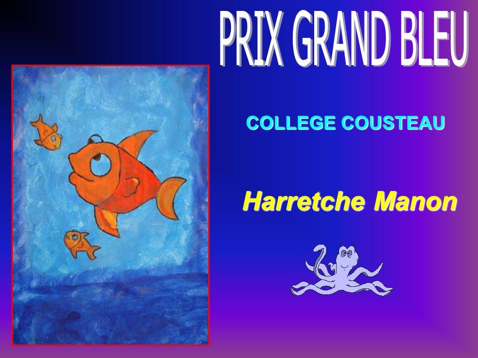 PRIX GRAND BLEU COLLEGE COUSTEAU Harretche Manon