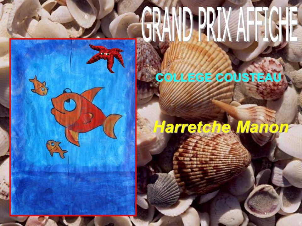 GRAND PRIX AFFICHE COLLEGE COUSTEAU Harretche Manon