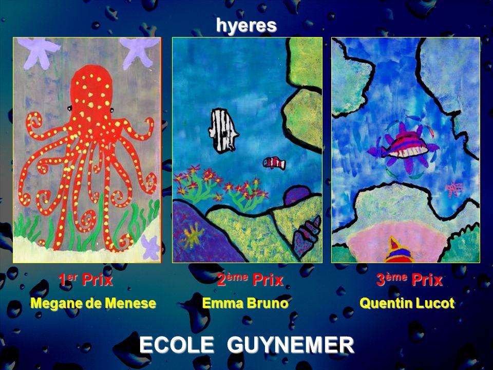 ECOLE GUYNEMER hyeres 1er Prix 2ème Prix 3ème Prix Megane de Menese