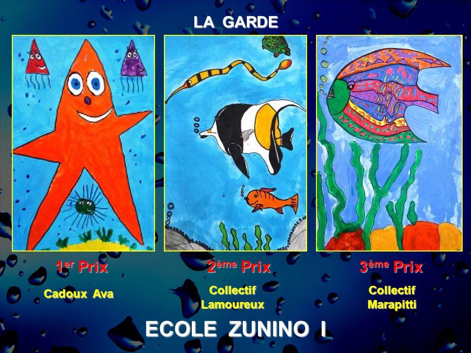 ECOLE ZUNINO I LA GARDE 1er Prix 2ème Prix 3ème Prix Collectif