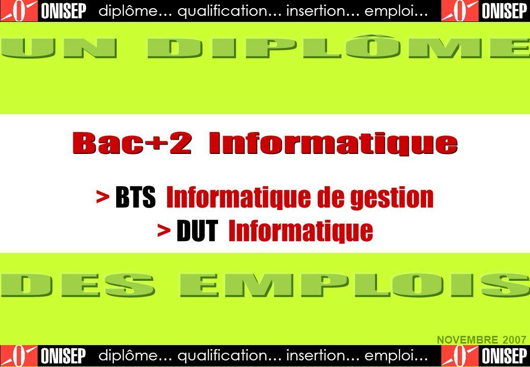 > BTS Informatique de gestion > DUT Informatique
