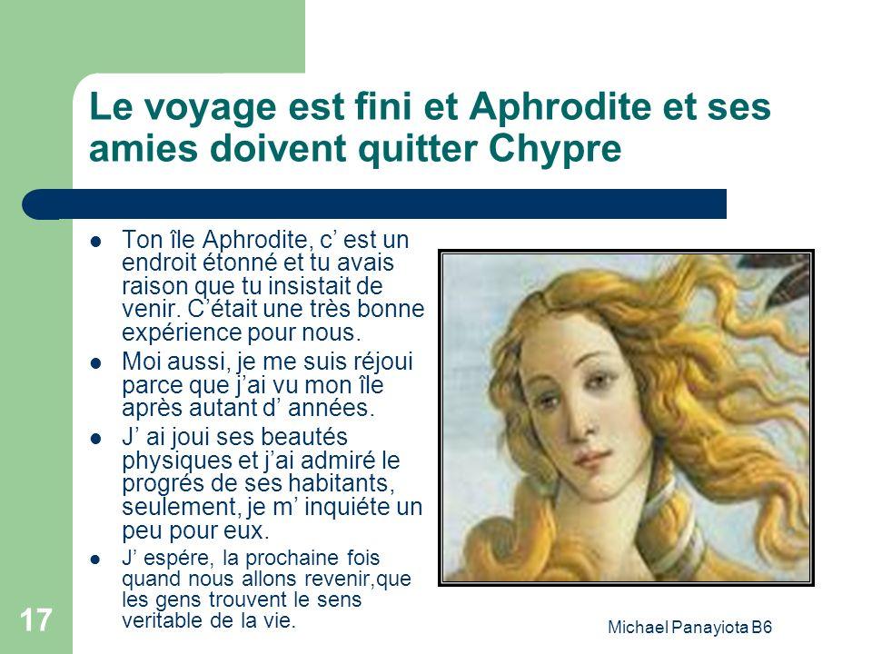 Le voyage est fini et Aphrodite et ses amies doivent quitter Chypre