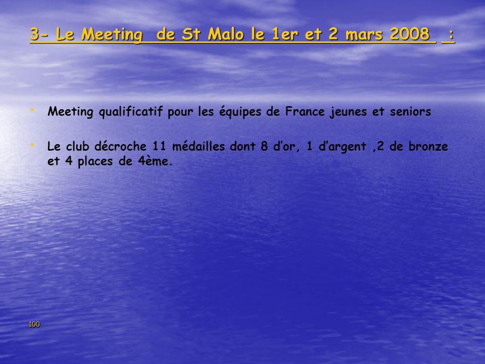 3- Le Meeting de St Malo le 1er et 2 mars 2008 :