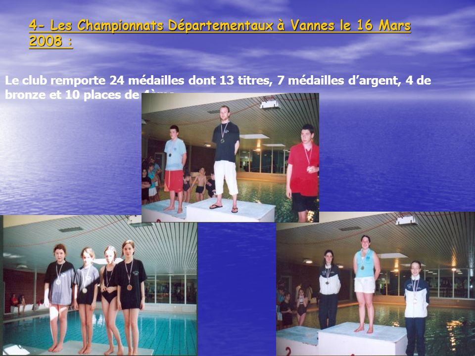 4- Les Championnats Départementaux à Vannes le 16 Mars 2008 :
