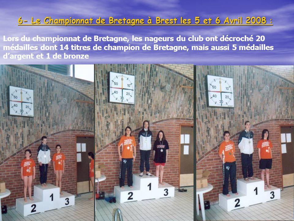 6- Le Championnat de Bretagne à Brest les 5 et 6 Avril 2008 :