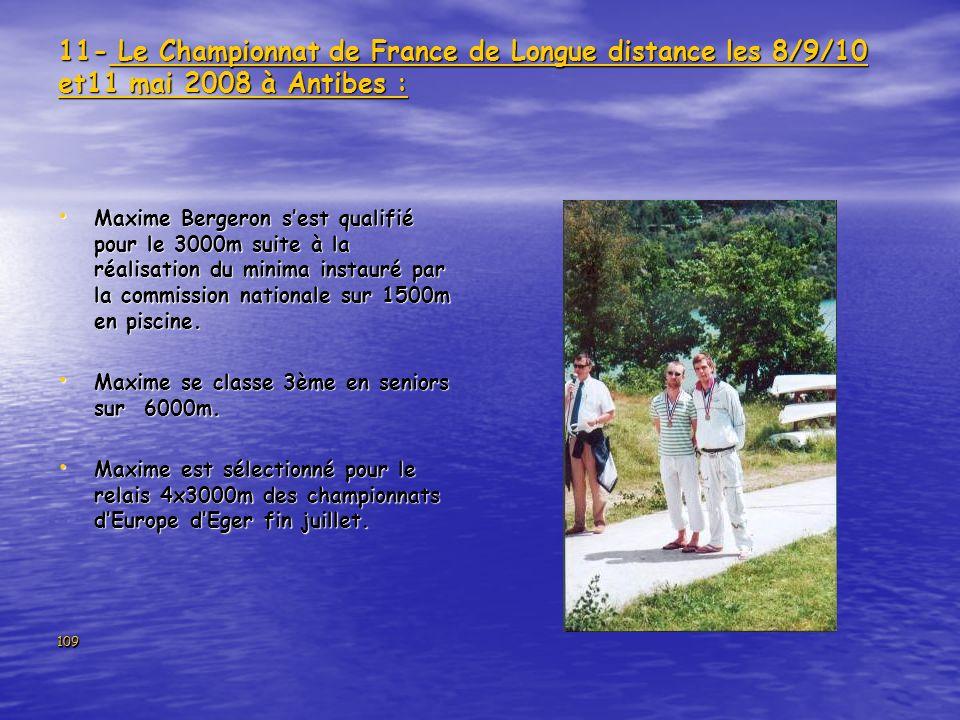 11- Le Championnat de France de Longue distance les 8/9/10 et11 mai 2008 à Antibes :