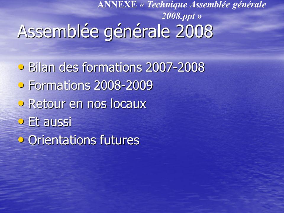 ANNEXE « Technique Assemblée générale 2008.ppt »