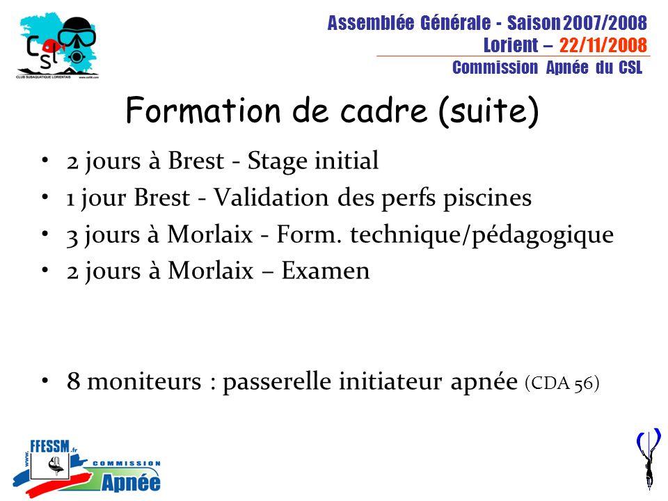 Formation de cadre (suite)