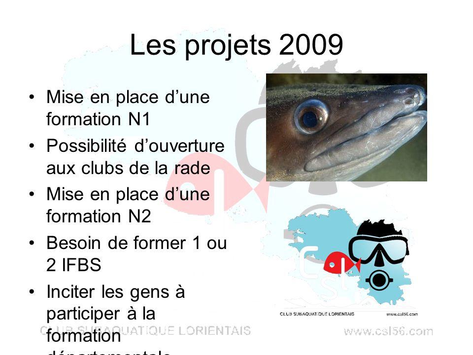 Les projets 2009 Mise en place d'une formation N1