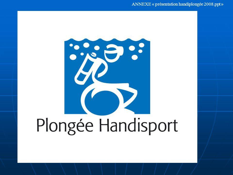 ANNEXE « présentation handiplongée 2008.ppt »