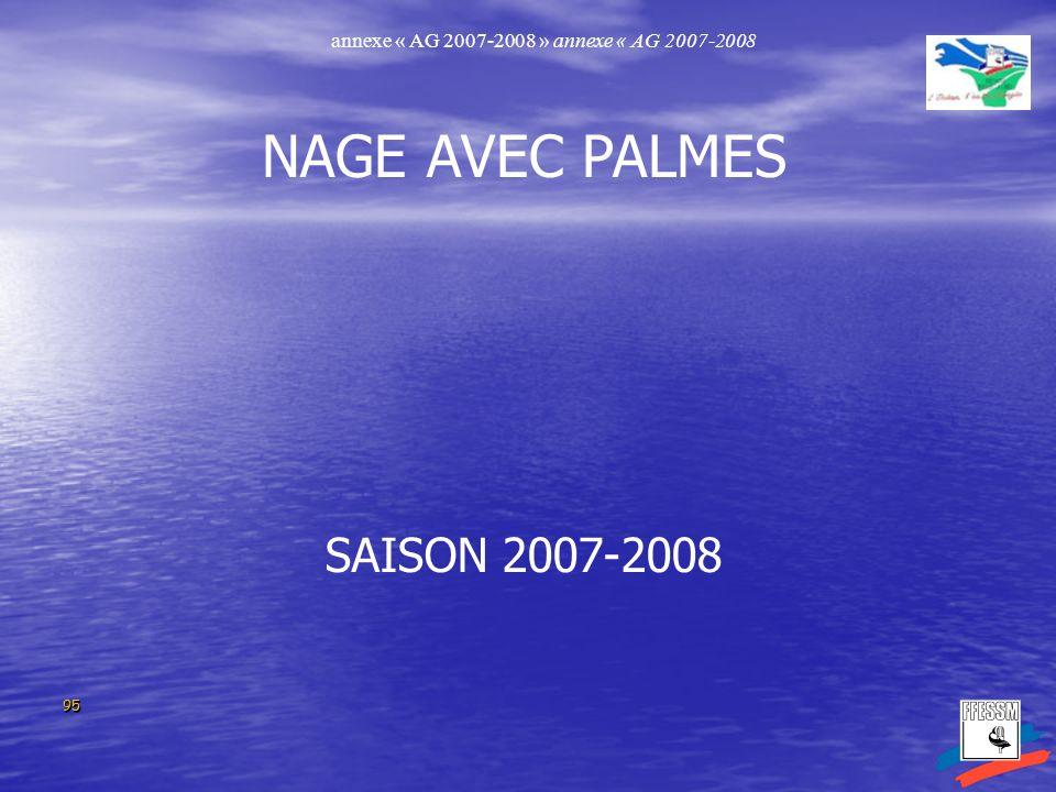 NAGE AVEC PALMES SAISON 2007-2008
