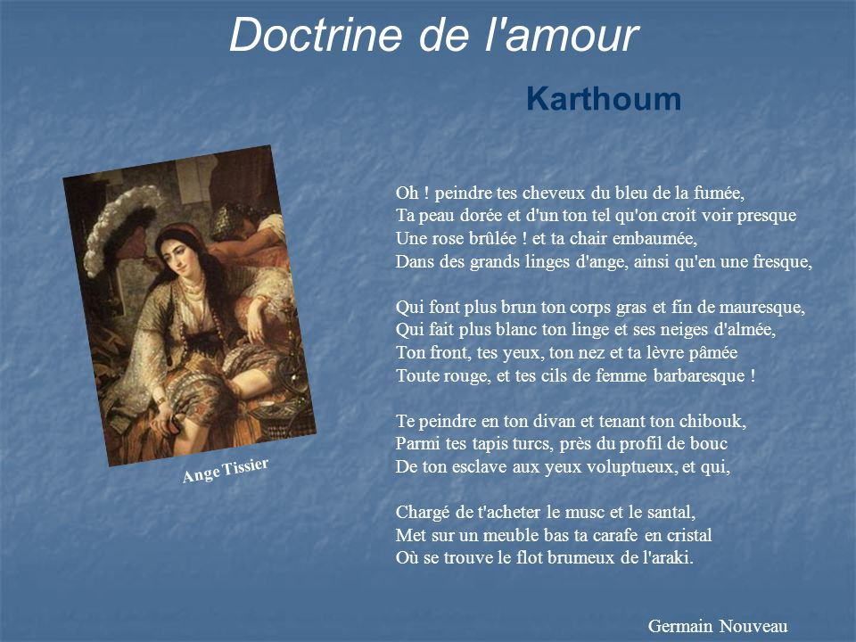 Doctrine de l amour Karthoum