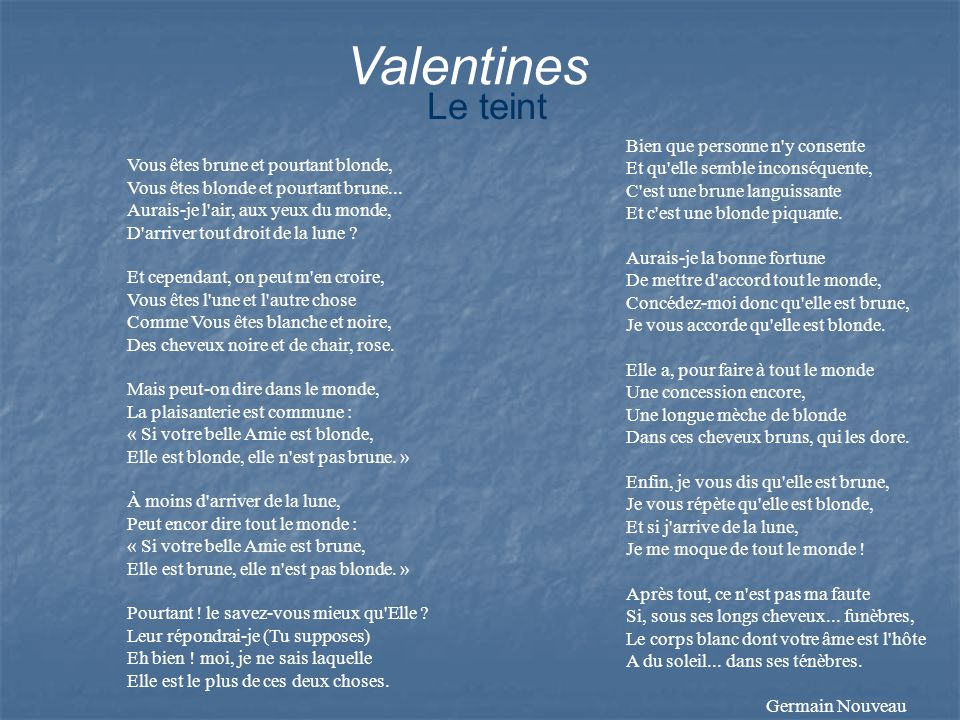 Valentines Le teint.