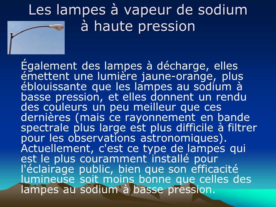 Les lampes à vapeur de sodium à haute pression