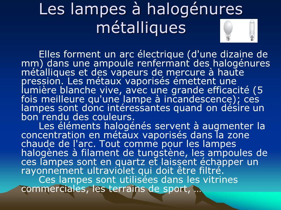 Les lampes à halogénures métalliques