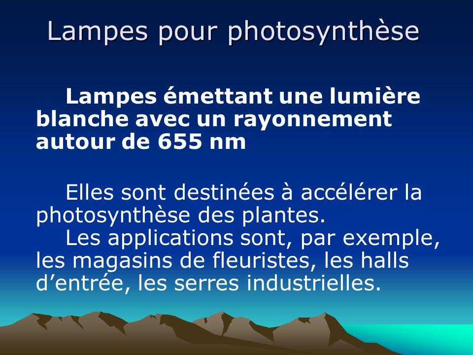 Lampes pour photosynthèse