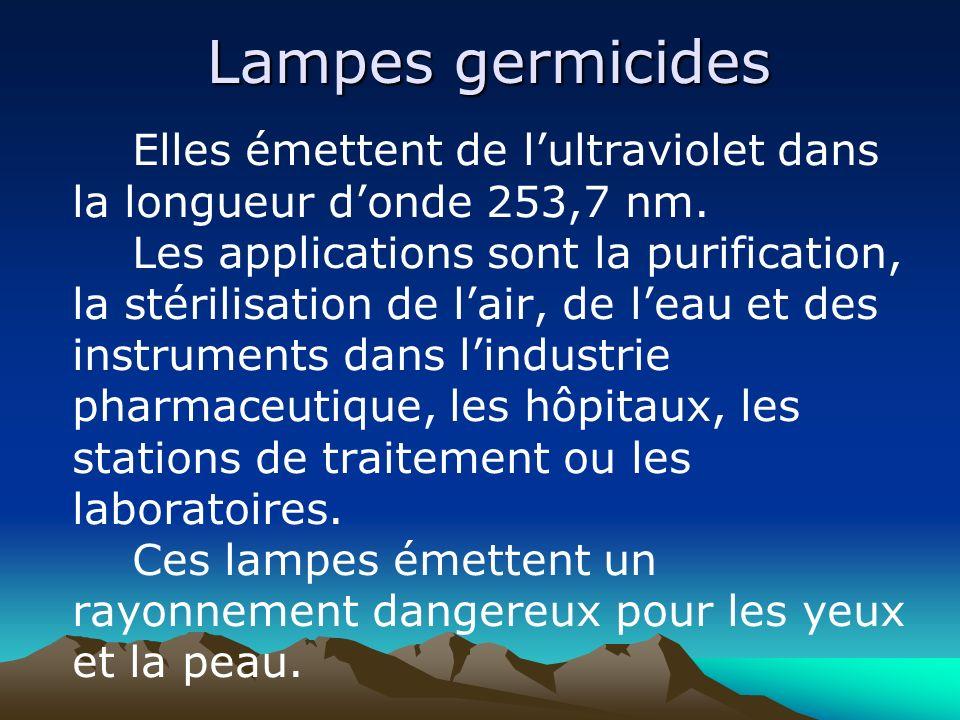Lampes germicides