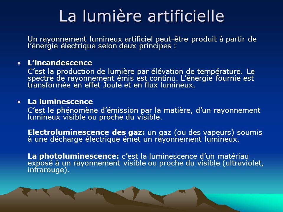 La lumière artificielle