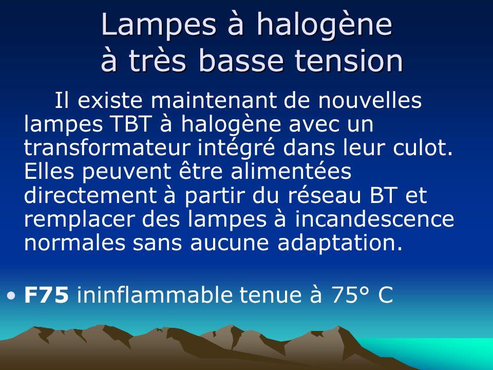 Lampes à halogène à très basse tension