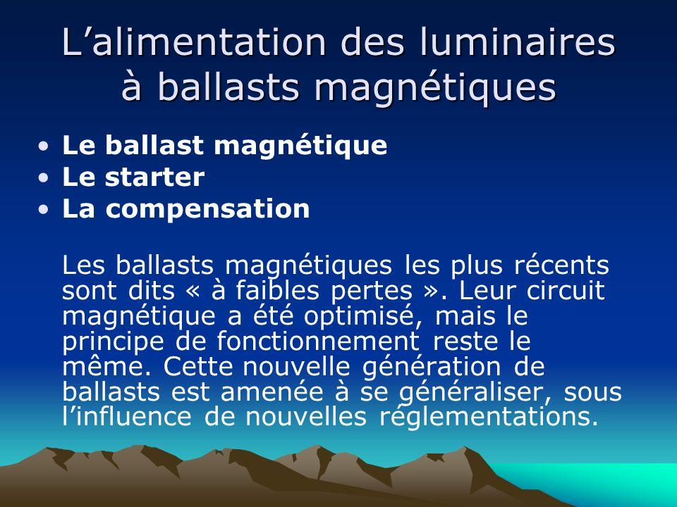 L'alimentation des luminaires à ballasts magnétiques