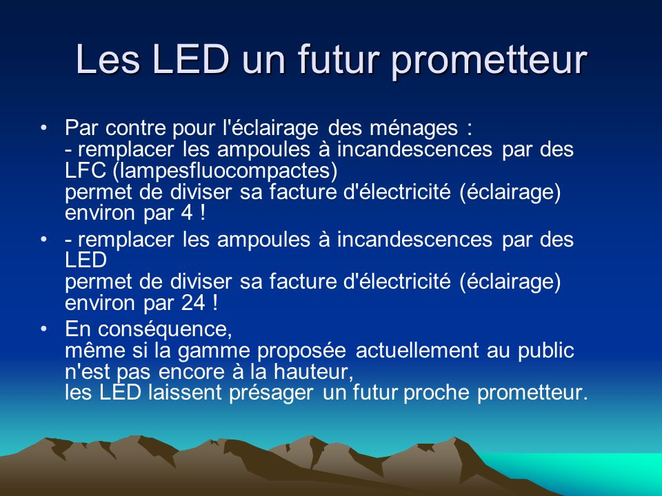 Les LED un futur prometteur