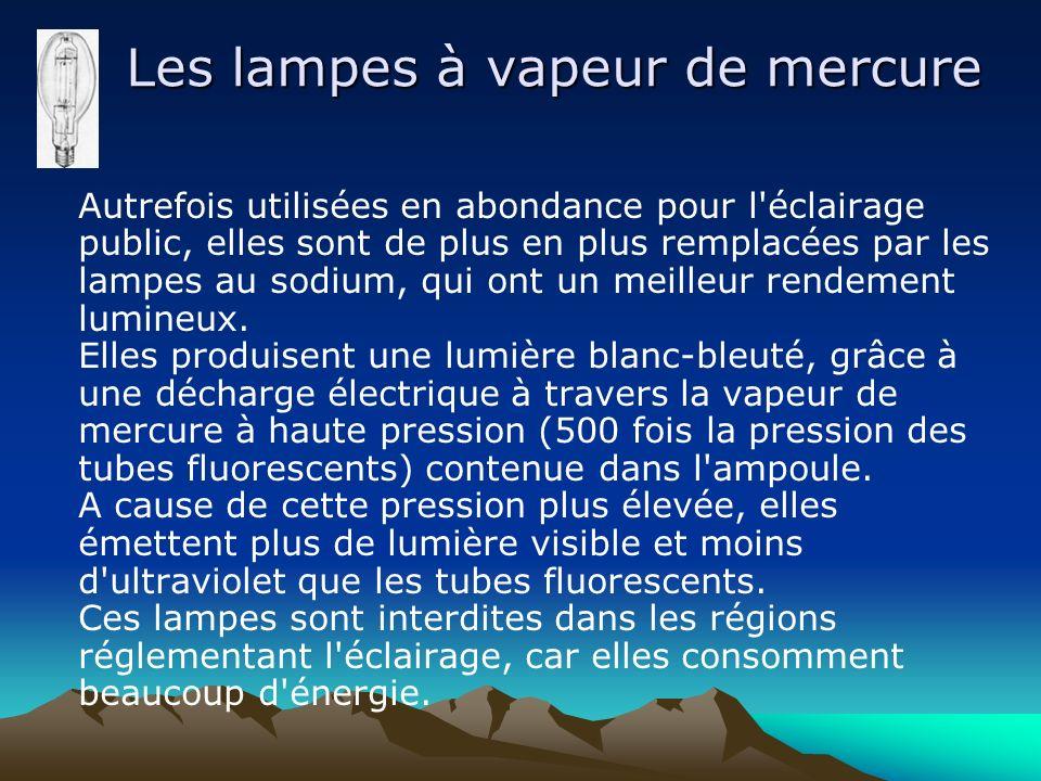 Les lampes à vapeur de mercure