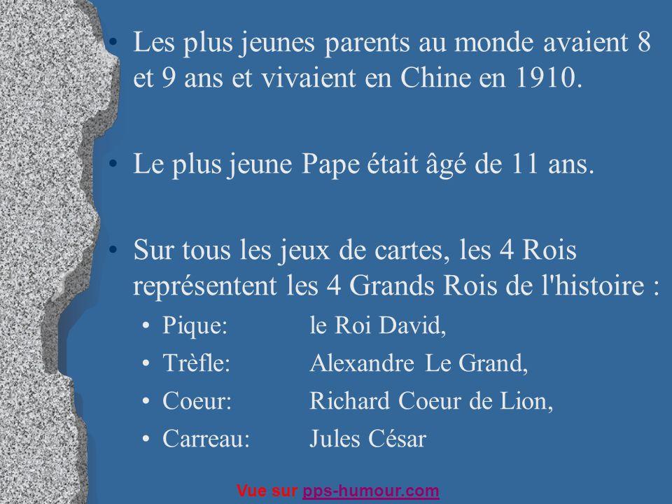 Le plus jeune Pape était âgé de 11 ans.