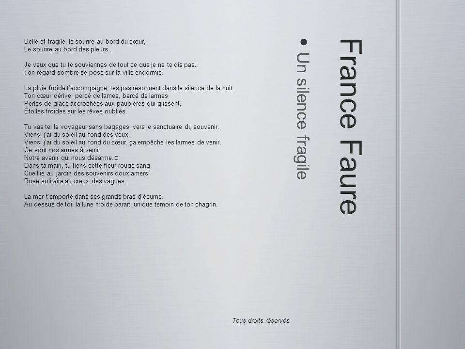 France Faure Un silence fragile