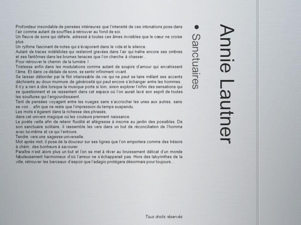 Annie Lautner Sanctuaires