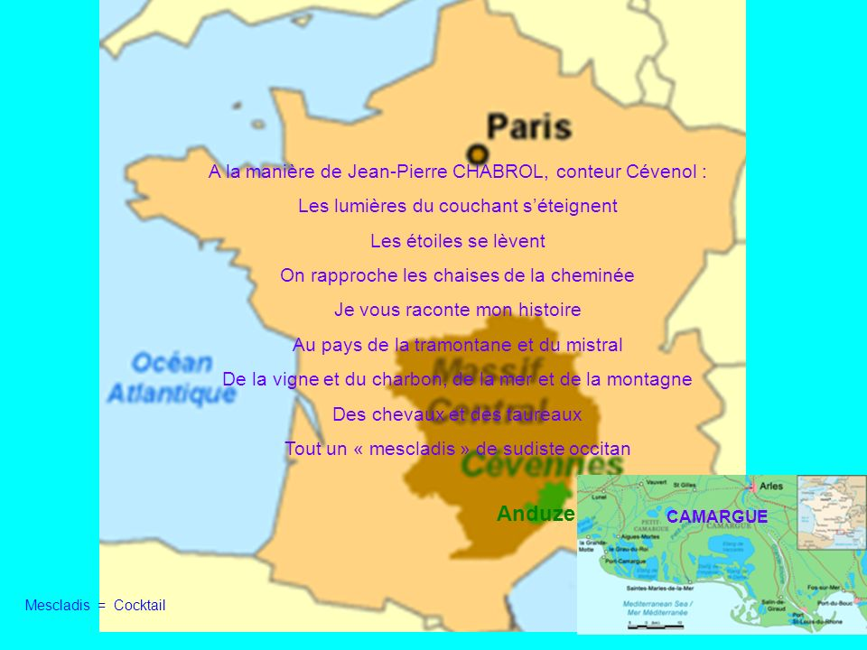 Anduze A la manière de Jean-Pierre CHABROL, conteur Cévenol :