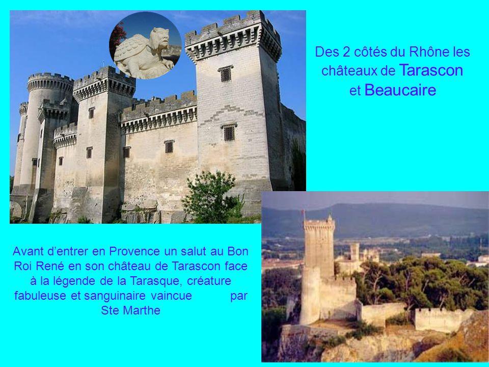 Des 2 côtés du Rhône les châteaux de Tarascon et Beaucaire