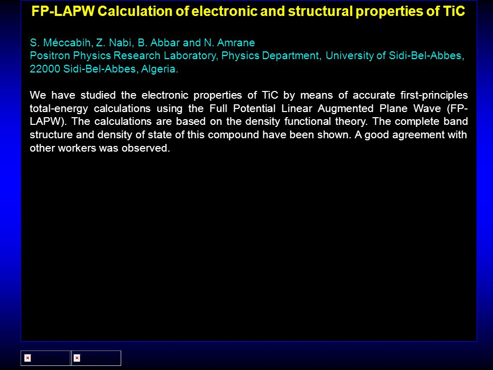 FP-LAPW Calculation of electronic and structural properties of TiC