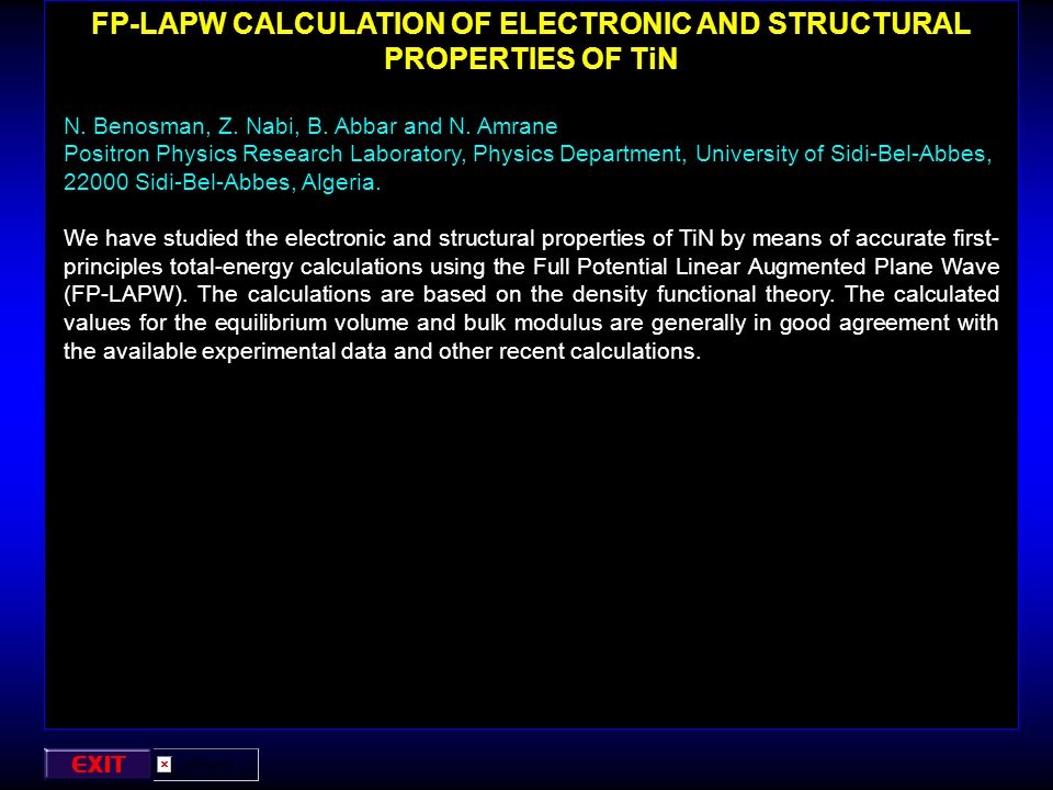 FP-LAPW CALCULATION OF ELECTRONIC AND STRUCTURAL PROPERTIES OF TiN