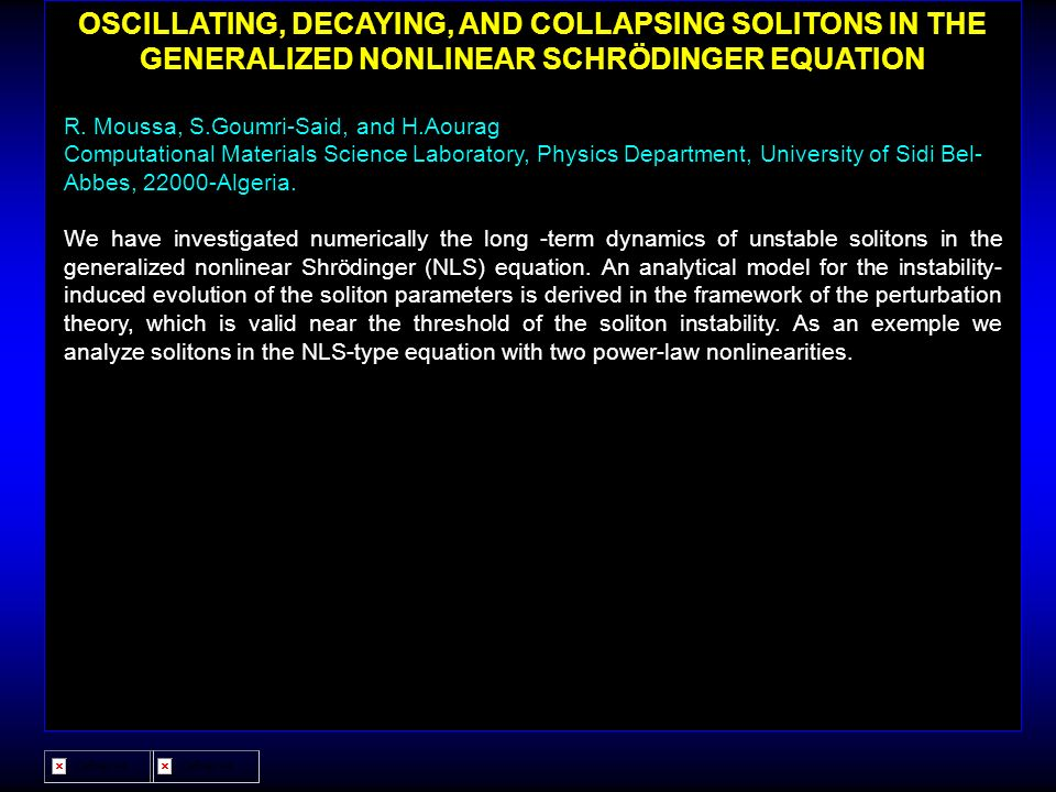OSCILLATING, DECAYING, AND COLLAPSING SOLITONS IN THE GENERALIZED NONLINEAR SCHRÖDINGER EQUATION