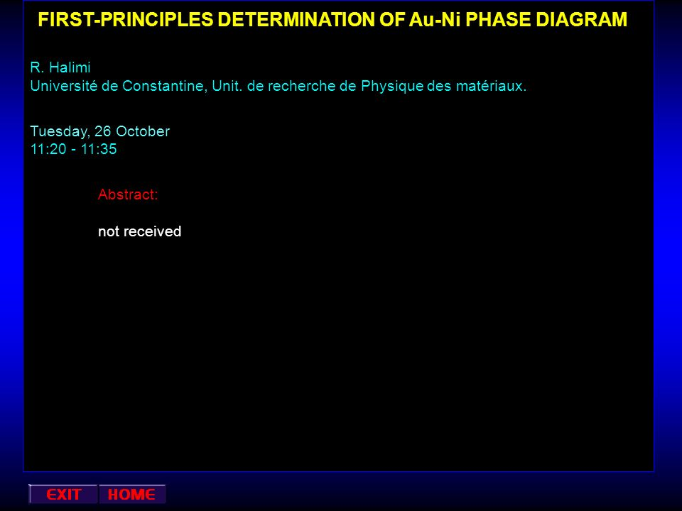 FIRST-PRINCIPLES DETERMINATION OF Au-Ni PHASE DIAGRAM