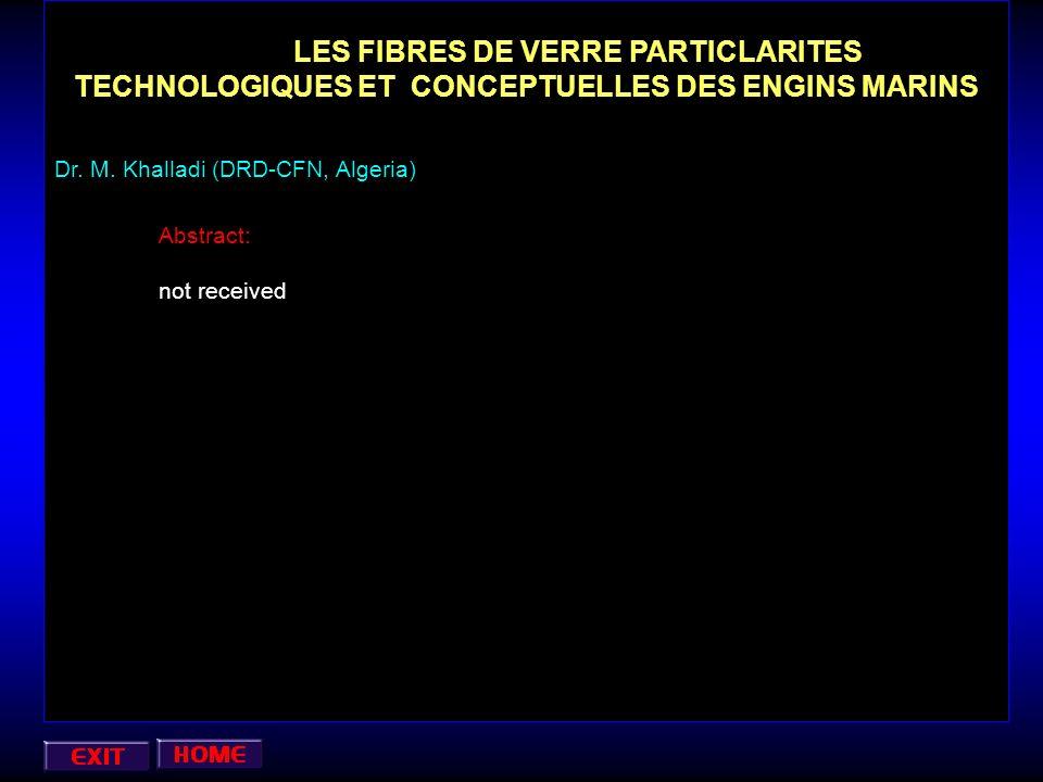 LES FIBRES DE VERRE PARTICLARITES TECHNOLOGIQUES ET CONCEPTUELLES DES ENGINS MARINS