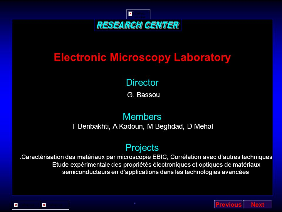 Electronic Microscopy Laboratory