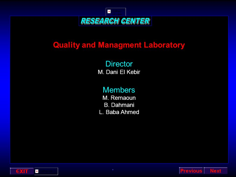 Quality and Managment Laboratory